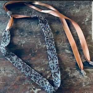 Accessories - Beaded Choker With Satin Ribbon